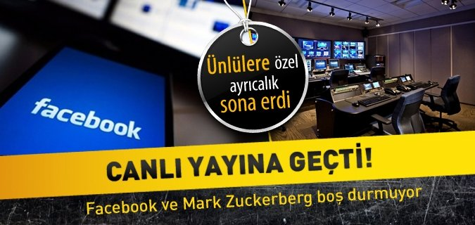 Facebook'tan dev yenilik