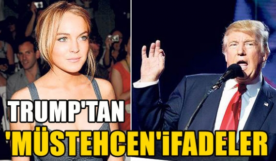 Donald Trump: Lindsday Lohan yatakta...