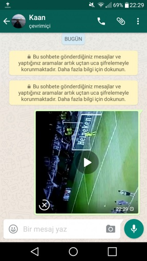 whatsapp anlık video